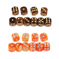 20pcs New Square 16mm Six Sided D6 Opaque Standard Game Dice 16mm