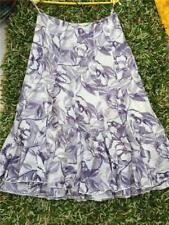 Per Una Womens skirt Floral pattern VGC size 8 maxi tiered frill White purple g2