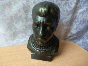 RARE Vintage Vysotsky Bust Soviet Russian USSR Statue figurine figure bard poet