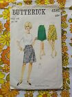 BUTTERICK 4181 sewing pattern CHECKED / COMPLETE 1960s vintage retro skirt
