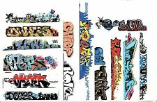 HO COLORFUL GRAFFITI  DECALS ASSORTMENT 325 FOR LONGER CARS FREE SHIPPING