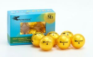 Chromax Metallic Coloured M5 Golf Balls 6 Pack - Can be Personalised