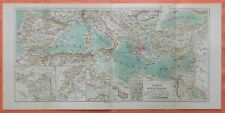Mittelmeerländer Länder des Mittelmeer historische Landkarte von 1896