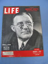 LIFE MAGAZINE JANUARY 1 1951 CHARLES E WILSON ROLF KLEP GENERAL MOTORS ISOTOPES