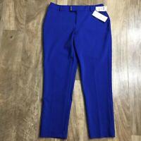 NEW Charter Club Women's Size 10 Blue Slim Leg Ankle Length Dress Pants