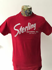 **NEW** 'STERLING RECORDS' RED T SHIRT HANK WILLIAMS HILLBILLY 40s/50s FREEPOST
