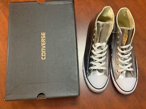 Converse Chuck Taylor All Star Shoes CTAS HI Gunmetal White Black 153177C sz 9.5
