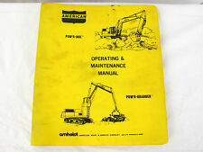 American Amhoist & Derrick Co. Pow'r Hoe Model 480 Operating Maintenance Manual