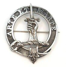 Scottish Sterling Silver Brooch Pin Skill & Valour Vintage c1928 Signed RGL