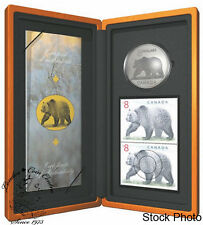Canada 2004 $8 Limited-Edition Stamp & Coin Set. The Great Grizzly
