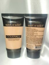 "LOT OF 2 Wet n Wild COVERALL CREAM FOUNDATION ""818 Light/Medium"" 1oz/29.6ml EACH"