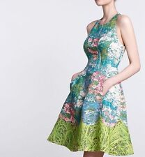 NWT Tracy Reese Revisited Impressionist Floral Dress 2 xs party Anthropologie