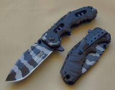 Couteau Tactical Military Mtech A/O Lame Acier Carbone Urban Camo MTA953UB