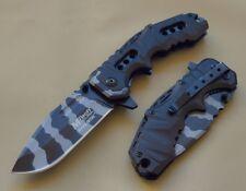 Couteau Tactical Military Mtech A/O Lame Acier Carbone Urban Camo MTA953UB