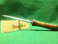 Vintage Gold Blacksmith Custom Ice Pick Canning Awl Tool Ash Teardrop Handle