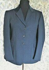 Dark blue equestrian/riding style jacket by PHOENIX Size  14 Velvet collar