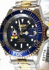 Invicta Disney Watch Mens Pro Diver Limited Edition Automatic W/ Dive Case New