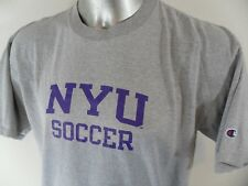 NYU Soccer Champion Vintage 90's XL T Shirt New York Hip Hop Cotton Blend