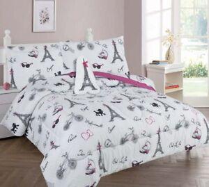 Paris Eiffel Tower Kids/Teens In a Bag COMFORTER Bed Plush Toy Sheet Set