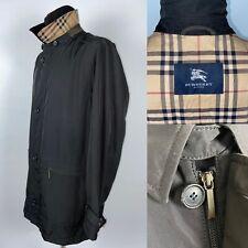 Mens BURBERRY LONDON Nova Check Coat Trench Black Size 52