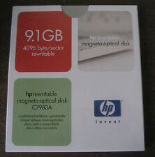 HP C7983A: 9.1Gb Rewritable Magneto Optical Disk Cartridge - New and Sealed