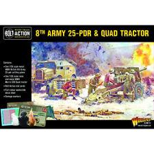 Bolt Action: British 8th Army 25 pounder Light Artillery Quad & Limber