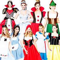 Fairytale Costume + Tights Ladies Book Day Week Womens Adult Teacher Fancy Dress