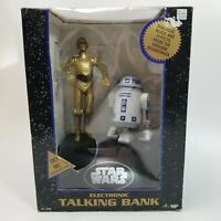 Star Wars C-3PO & R2-D2 Electronic Talking Bank Dialogue Music & Effects 1995