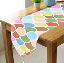 32x150cm Table Runner Party Banquet Event Decorations Colorful Fish Skin