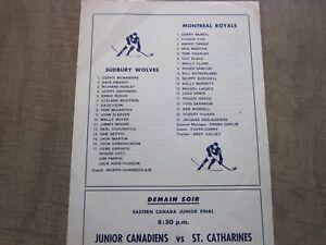 1959-60 Montreal Royals Eastern Professional Hockey League Program Insert