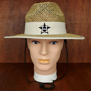 Houston Astros New Era Straw Hat 7 1/4 Christmas Present 2021 Outdoor Cap NWT