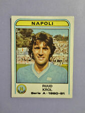 FIGURINA CALCIATORI PANINI NAPOLI N.213 KROL 1980-81 RARA  NEW- FIO