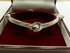 Massiver Sterling Silber .925 Schlüssel Armreif Damen 23 Gramm