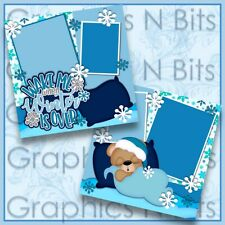"""Wake Me When Winter Is Over 12""""x12"""" Printed Premade Scrapbook Pages"""