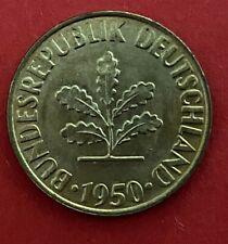 BRD 10 Pfennig 1950 G prägefrisch - stempelglanz