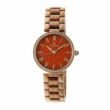 Empress Catherine Automatic Hammered Dial Gold Bracelet Women's Watch EM1904