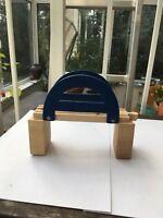 Brücke mit Stützen Holzeisenbahn Zubehör Brio kompatibel Kinder ab 3 Jahre