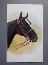 R&L Postcard: J Salmon Art Card, Horse Head Portrait Study, George Rankin