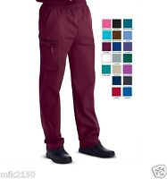 Landau Mens Scrubs Zipper Front Cargo 8555 Pants REGULAR TALL All color NWT