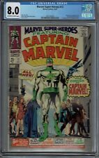 CGC 8.0 MARVEL SUPER-HEROES #12 CAPTAIN MARVEL 1ST APPEARANCE OW/W PAGES