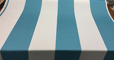 P Kaufmann Blue and white Cabana Stripes Fabric by the yard