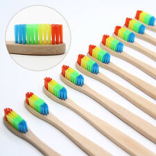 Rainbow Wood Bamboo Toothbrush Oral Care Soft Bristle Teeth Brush Fibre Home