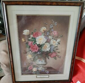 ROSES in a Vase by Albert Williams Signed Framed Print