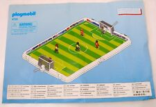 PLAYMOBIL INSTRUCTION MANUAL ONLY 4725 FOOTBALL PITCH