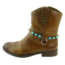 Montana West - Copper Horse Shoe Boot Charm - TURQUOISE BEADS AND COPPER CHAIN