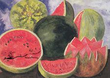 Kunstkarte: Frida Kahlo - Viva la Vida / Melone / 1954