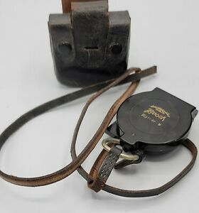 Busch Rathenow March Compass WWII German  WW2 With Case Unit Marked 2/75