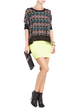 "BCBG NWT ""BRINKKLEY"" Black Batwing Knit Wool Blend Sweater Top New M NFZ1N755"