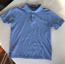 Vineyard Vines Boys Polo Shirt Light Blue Size Large 16–18 EUC