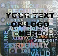 392 Personalised Customised Hologram Holographic Security Stickers labels S20-2S
